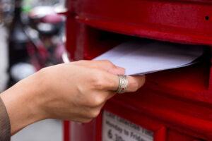 hvad koster det at sende et brev